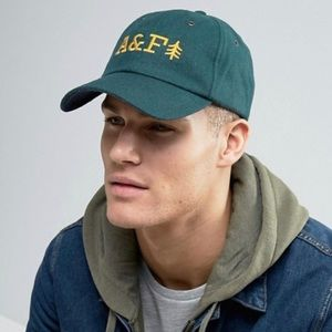 Abercrombie & Fitch Logo Baseball Cap In Green